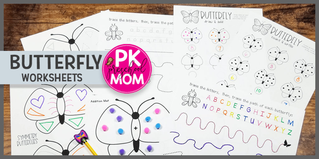 Free Butterfly Worksheets - Preschool Mom
