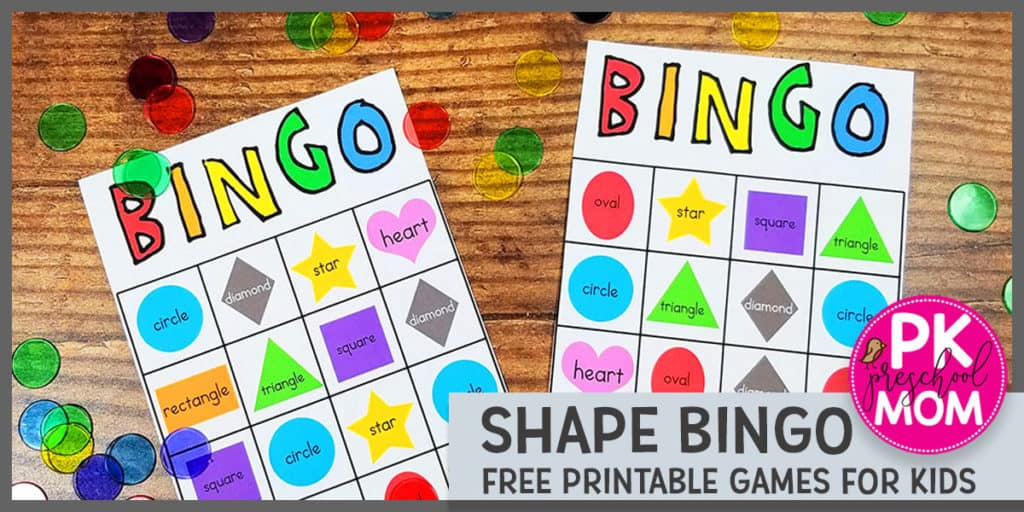 graphic relating to Shape Bingo Printable named Condition Bingo - Preschool Mother