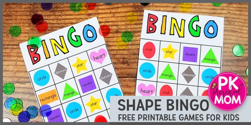 picture about Shape Bingo Printable named Form Bingo - Preschool Mother