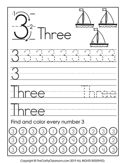 Preschool Number Worksheets - Preschool Mom