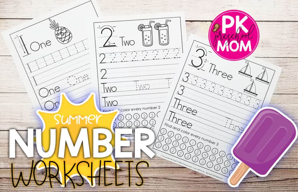 Preschool Number Worksheets - Preschool Mom