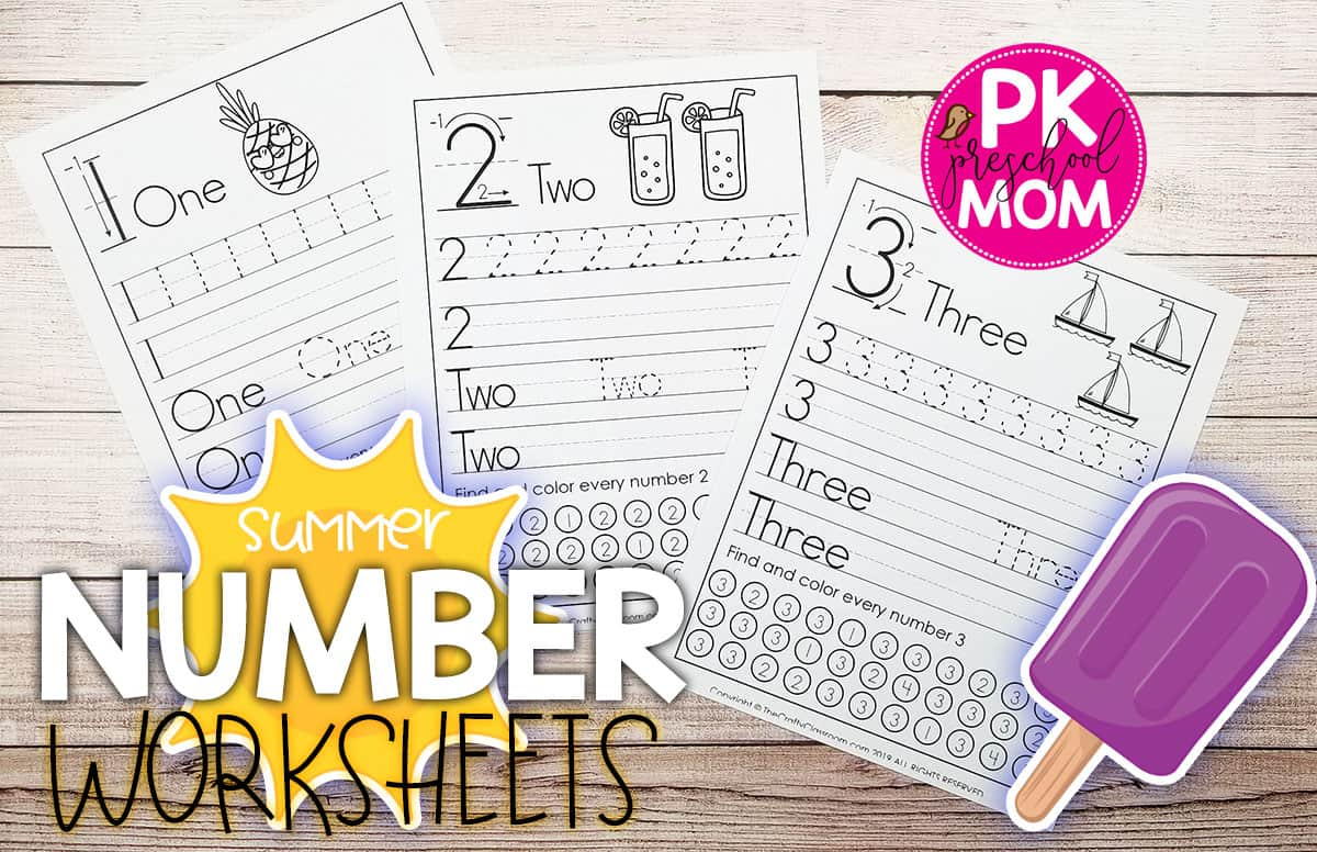 Preschool Number Worksheets Preschool Mom