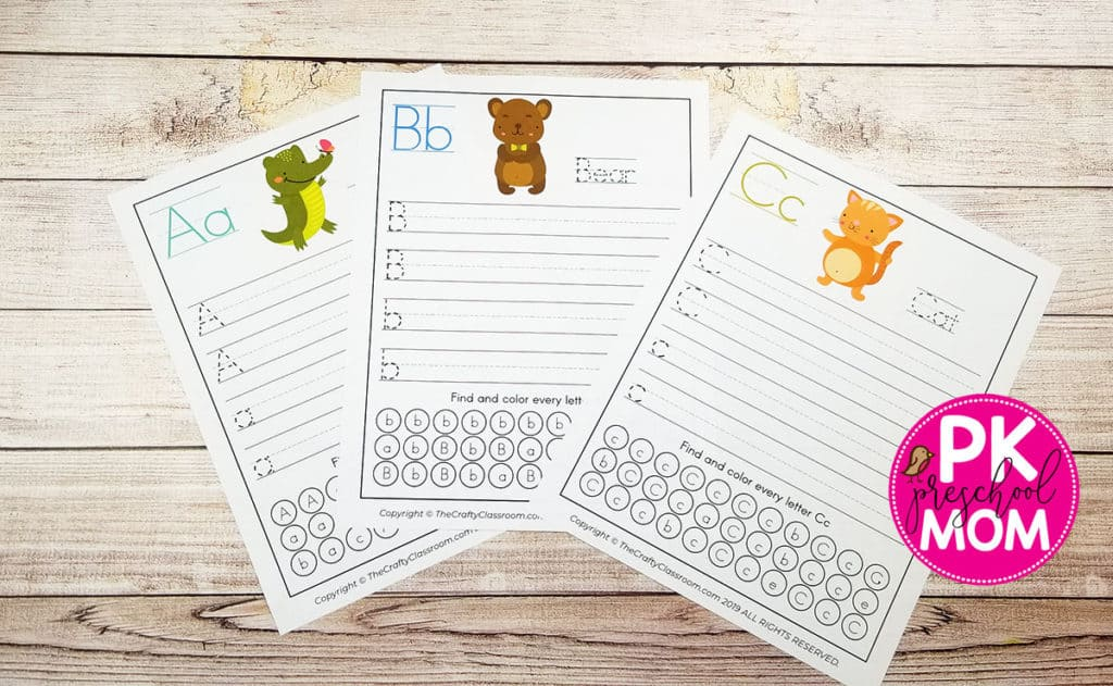 Animal Alphabet Worksheets - Preschool Mom