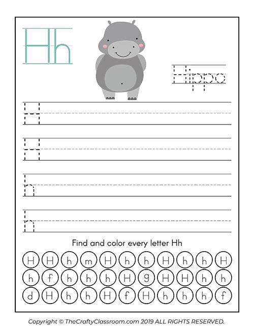 Animal Alphabet Worksheets - Preschool Mom