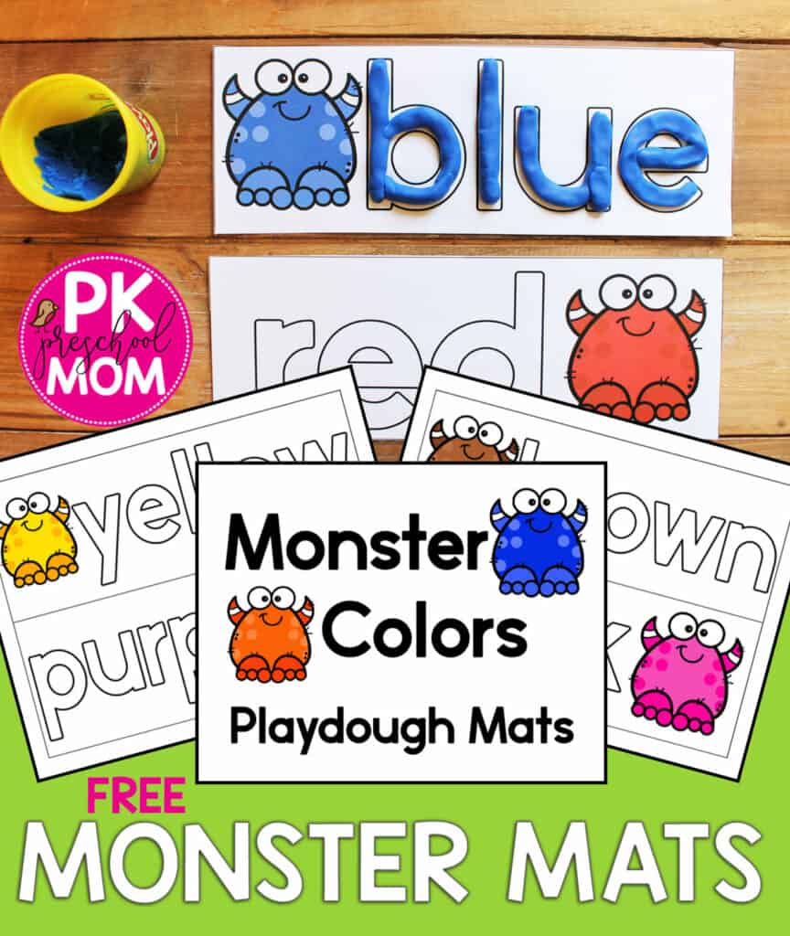 Monster Playdough Mats