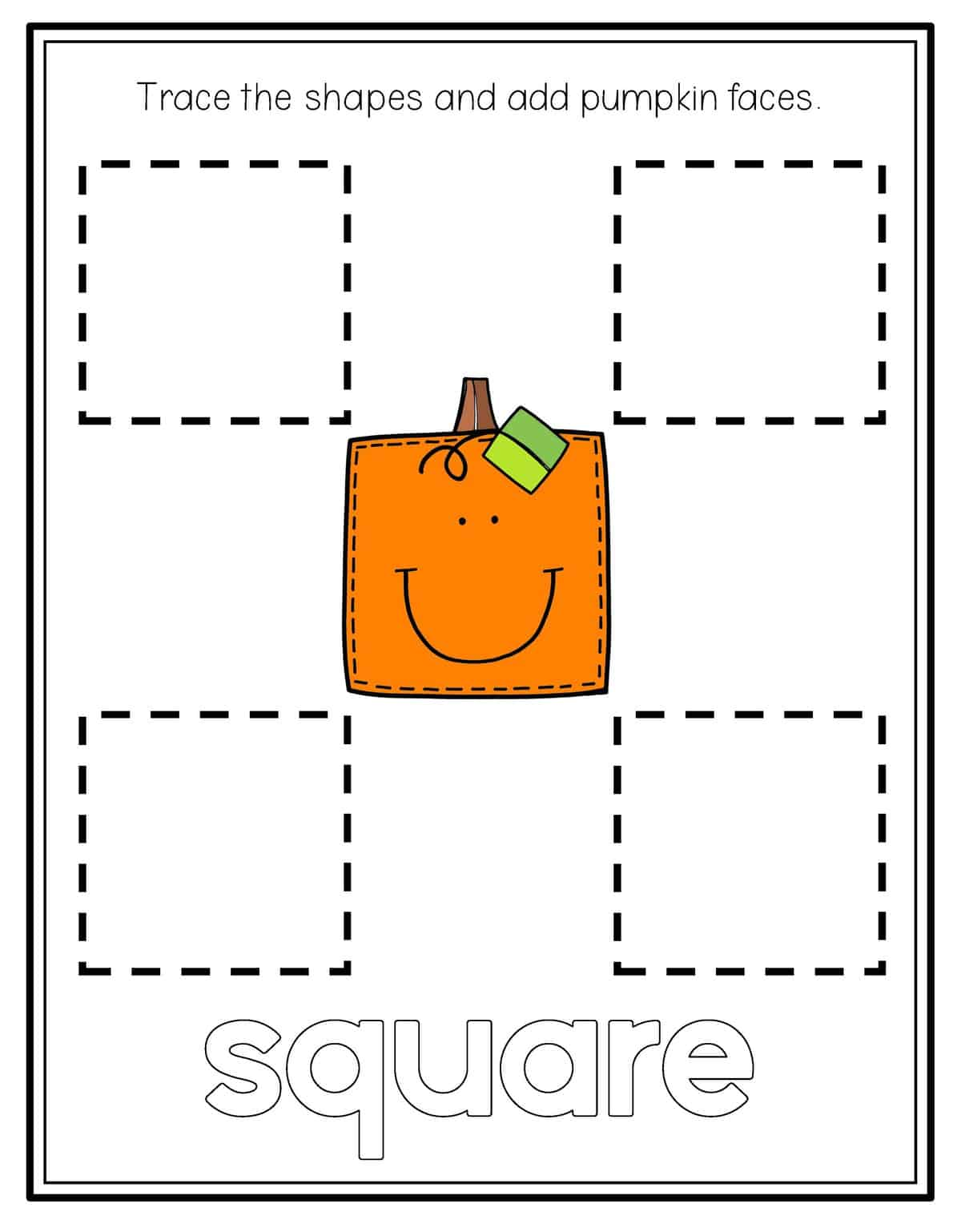 Trace Square Worksheet