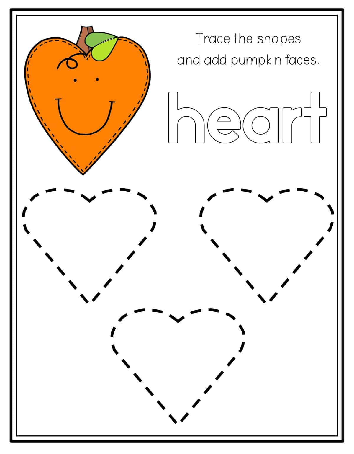 Heart Worksheets For Preschool