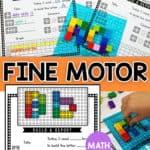 Develop fine motor skills in your preschoolers using their favorite toys - Lego bricks!