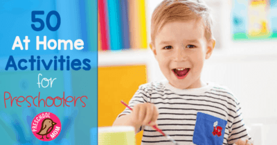 50 Simple At Home Activities for Preschoolers