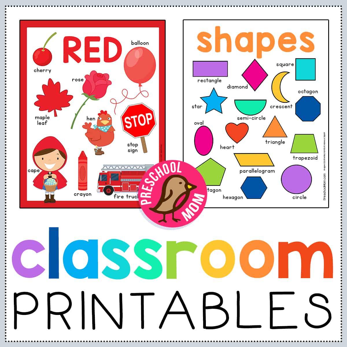 Preschool Classroom Printables Preschool Mom