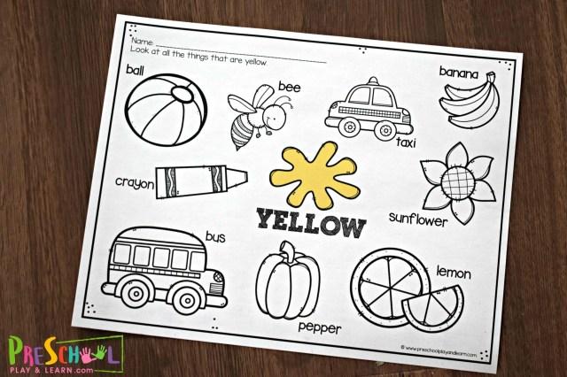 FREE Color Worksheets for Kids