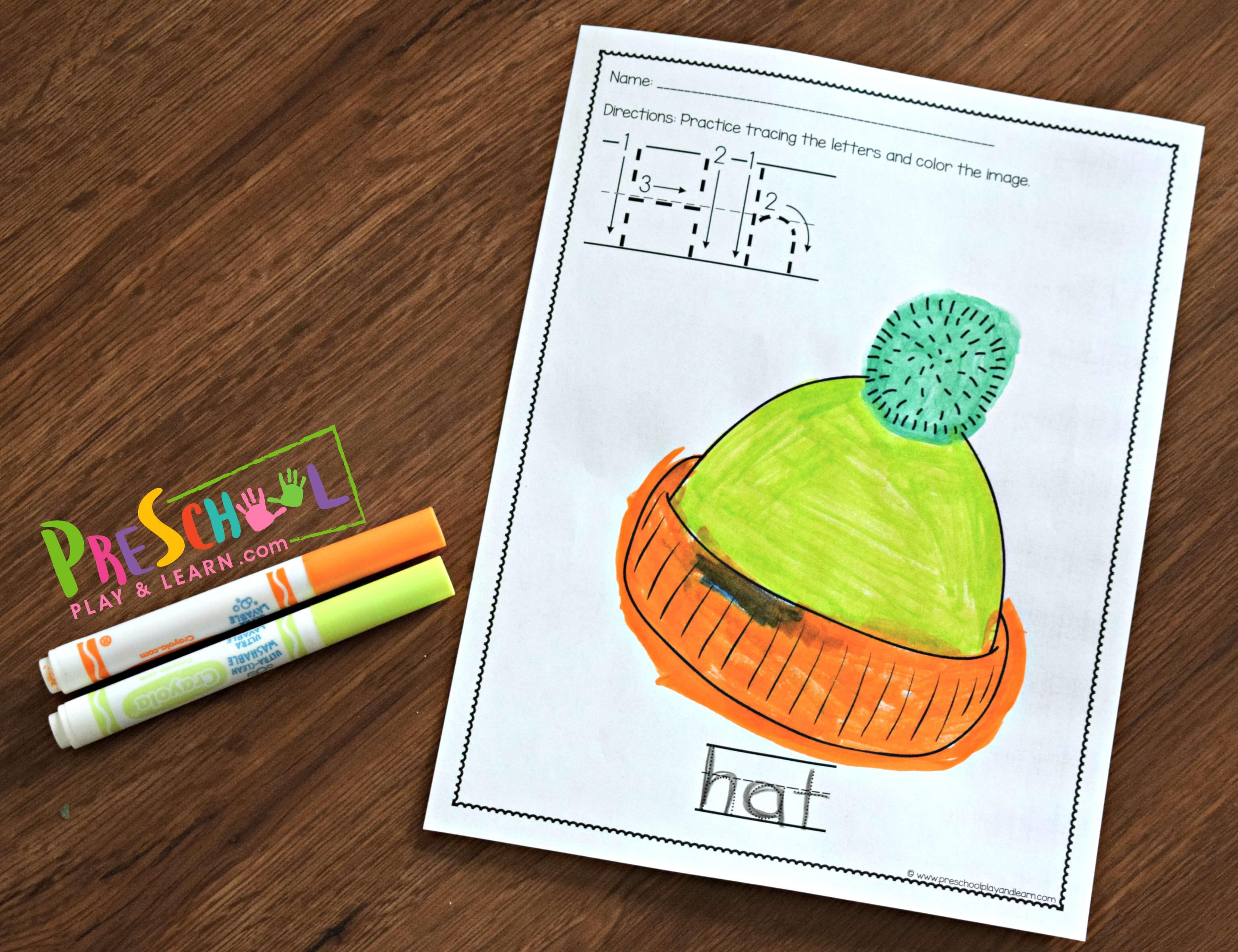 Free Preschool Alphabet Worksheets