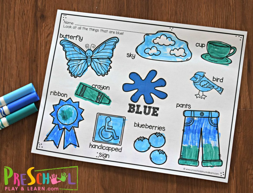 Free Color Worksheets For Kids