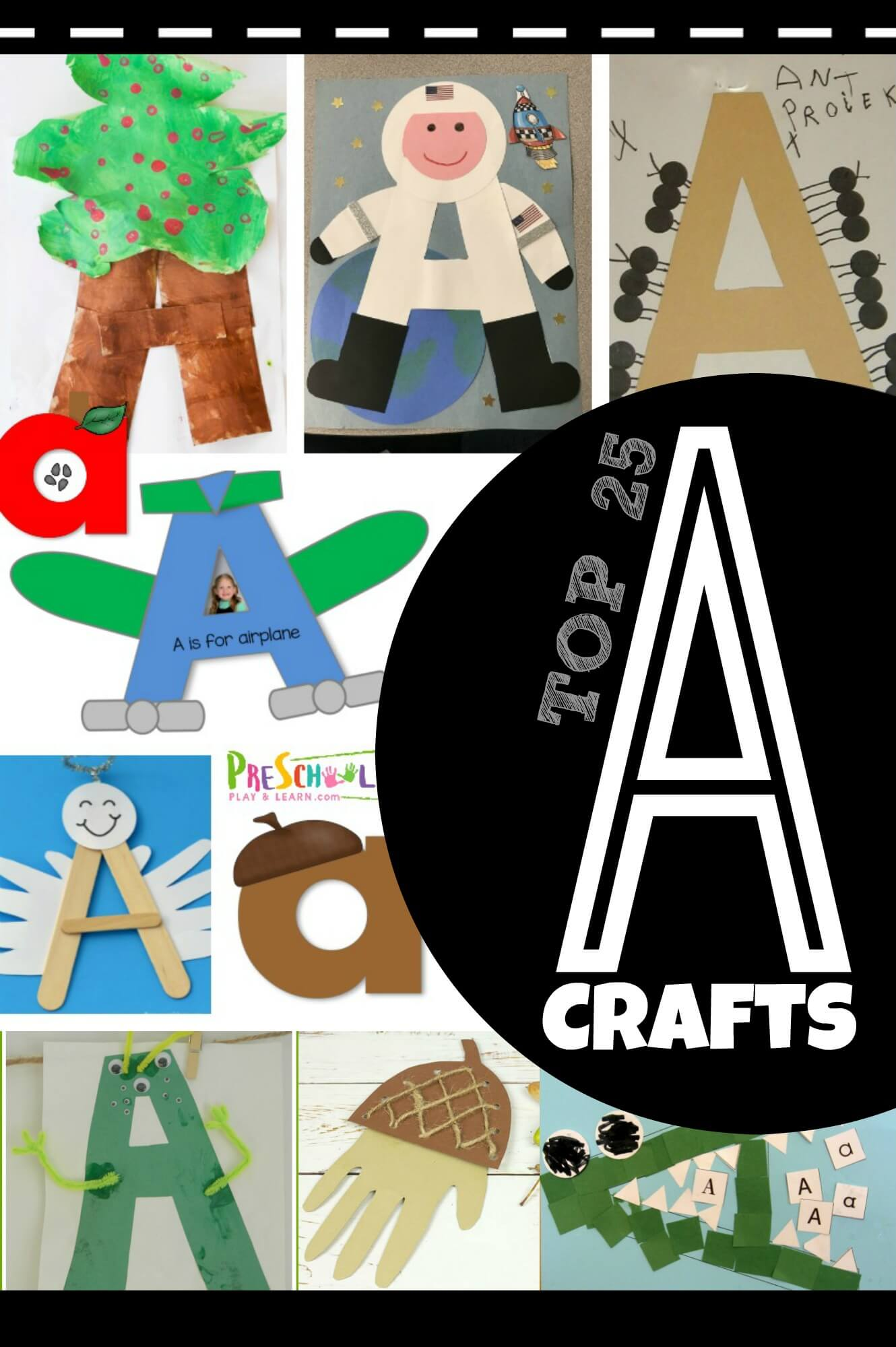 Top 25 Letter A Crafts