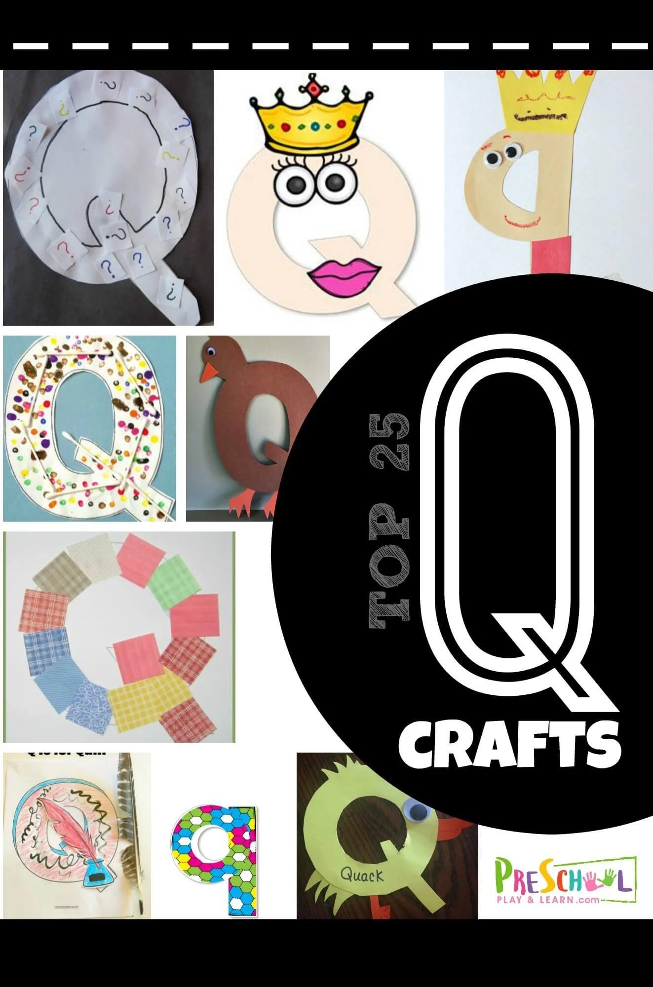 Top 25 Letter Q Crafts