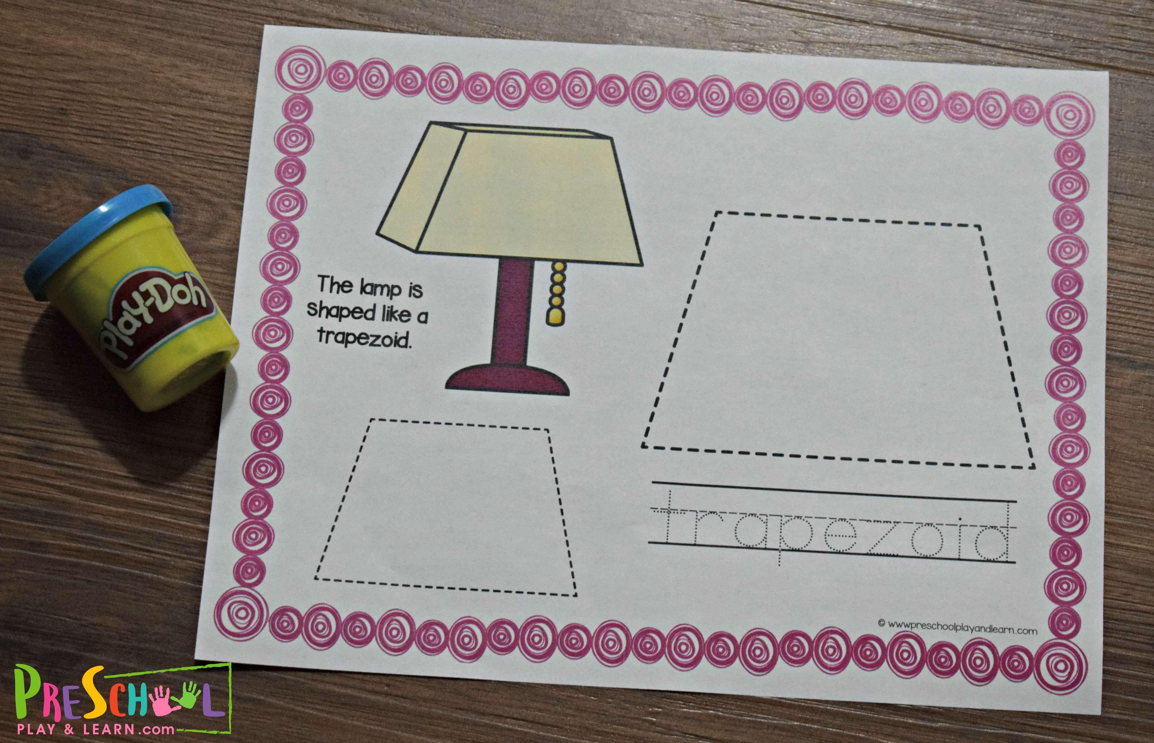 Free Shape Worksheets For Preschool