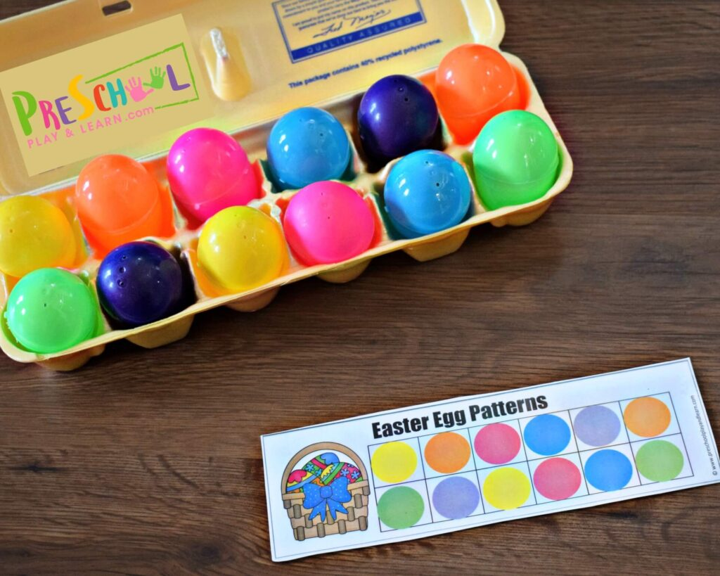 Free Easter Egg Pattern Activity