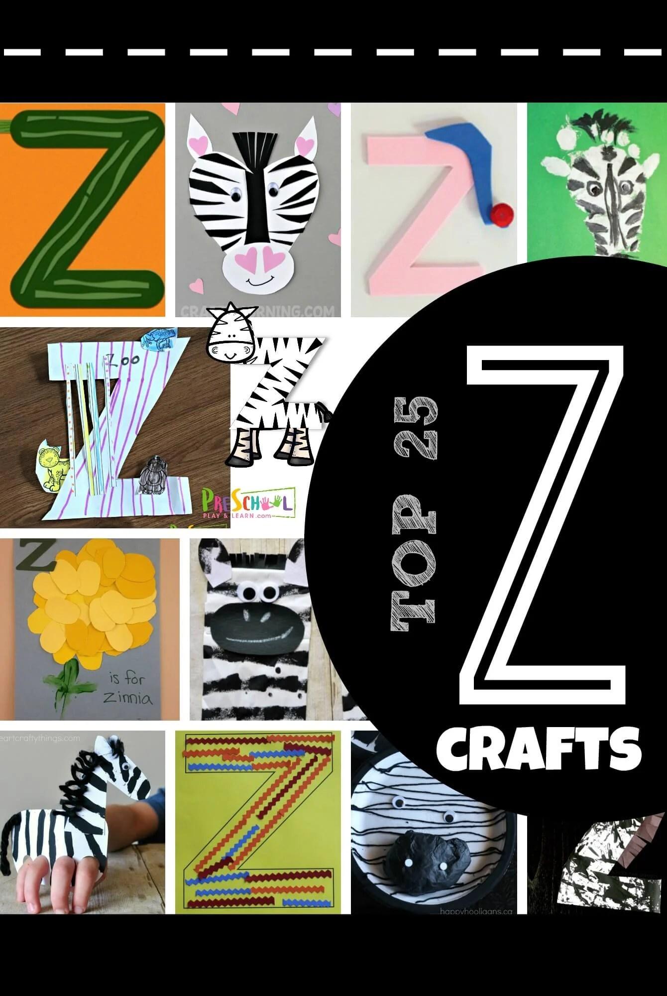 Top 25 Letter Z Crafts