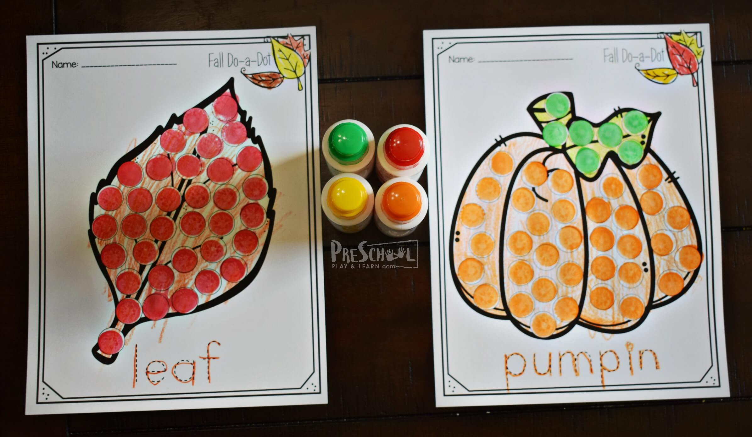 Fall Do A Dot Printables
