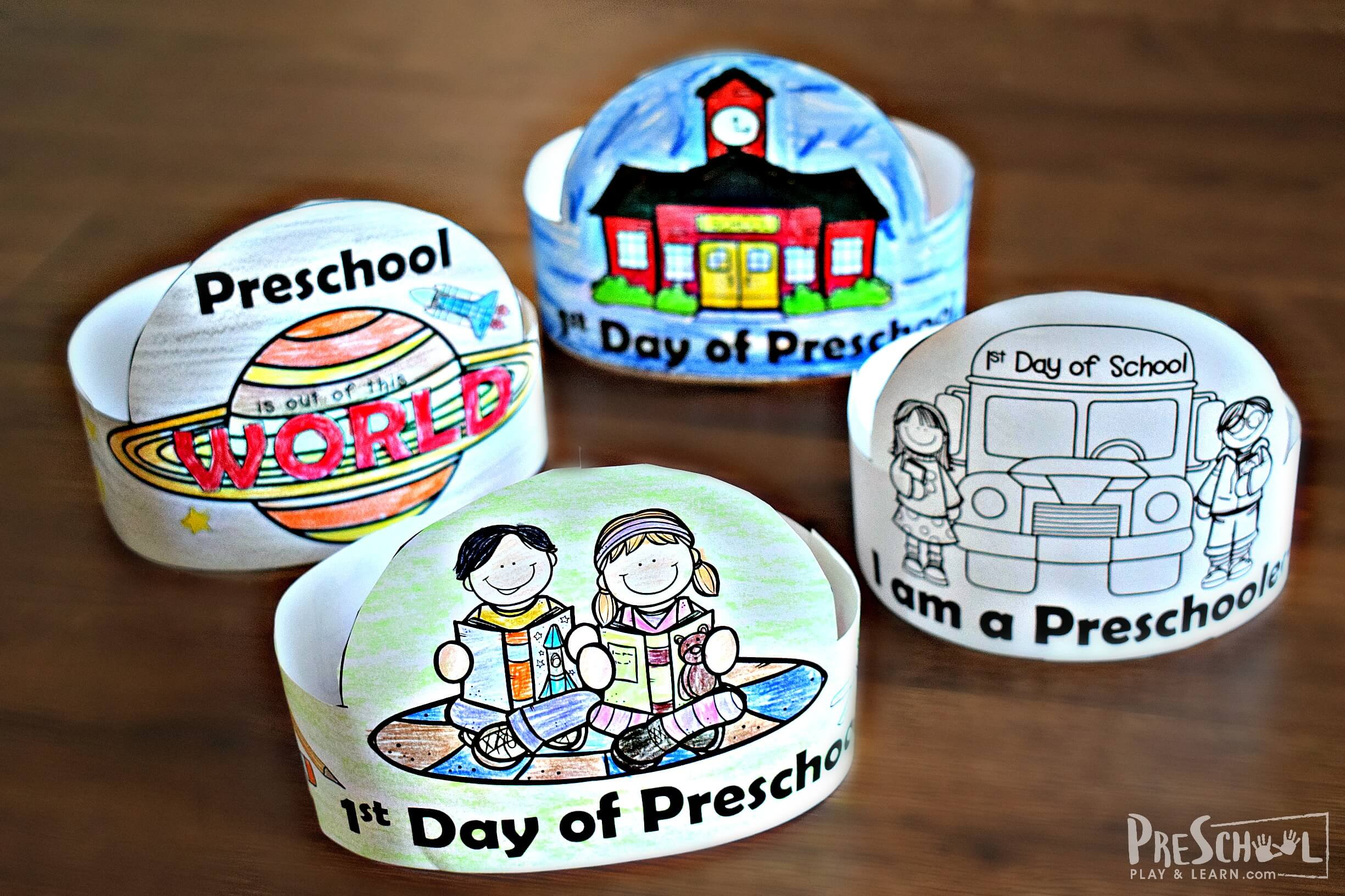 Free First Day Of Preschool Hats