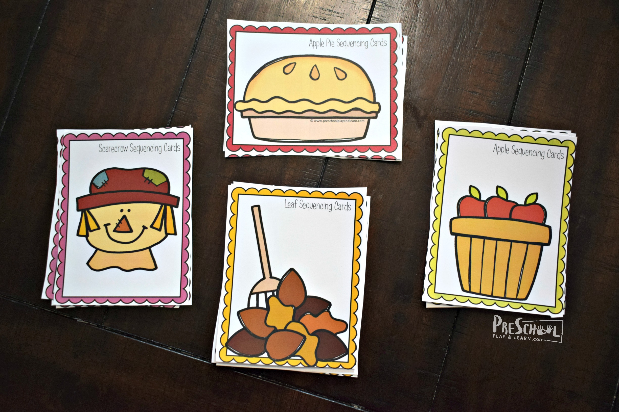 Fall Sequencing Cards