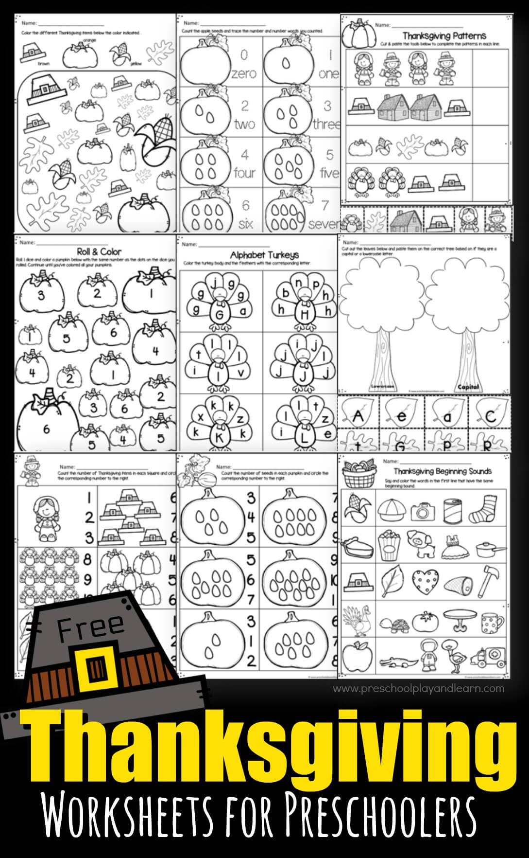 Thanksgiving Worksheets For Preschoolers