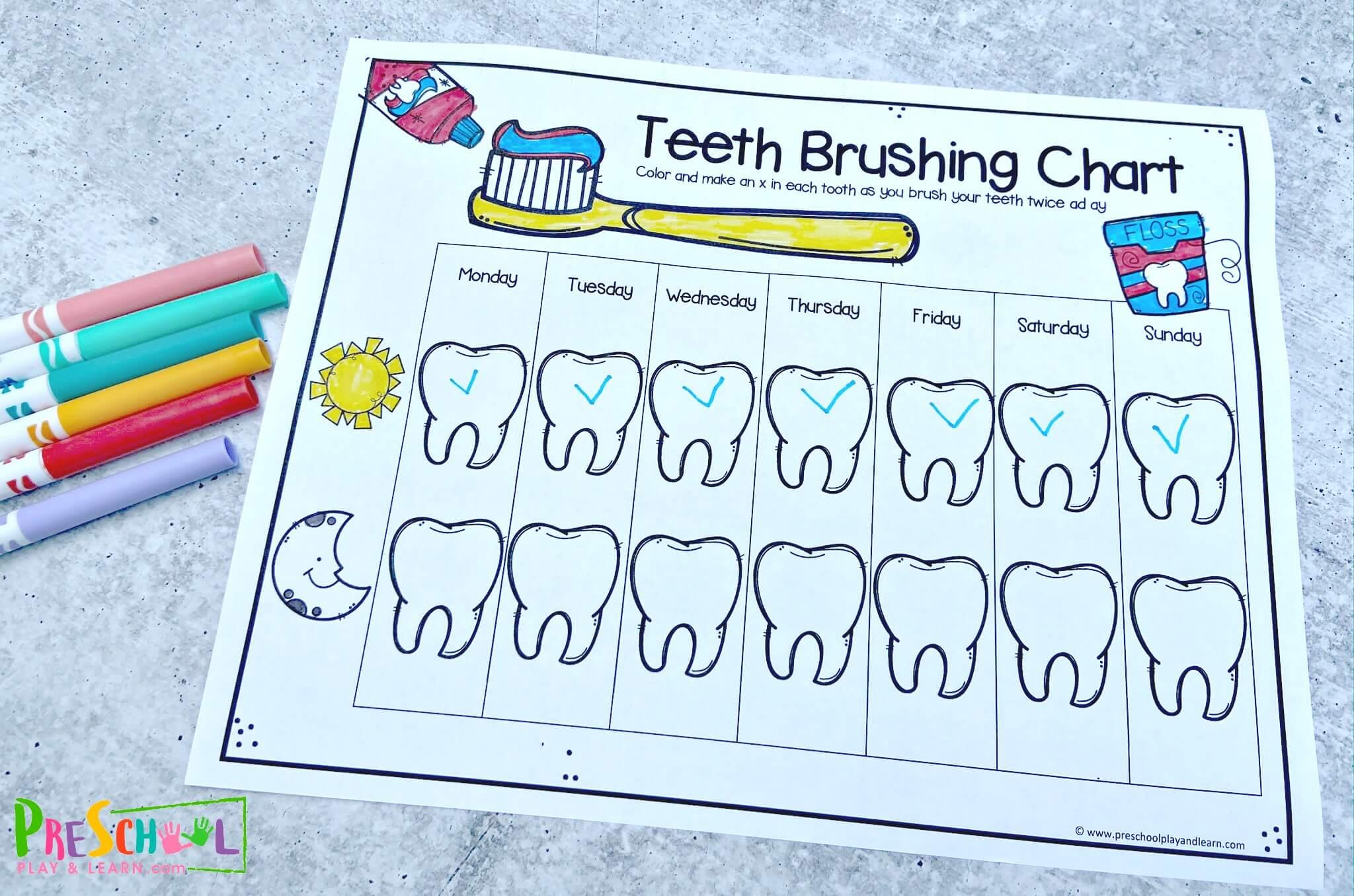 Free Teeth Brushing Chart