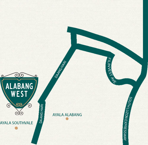 Alabang West by Megaworld location and vicinity