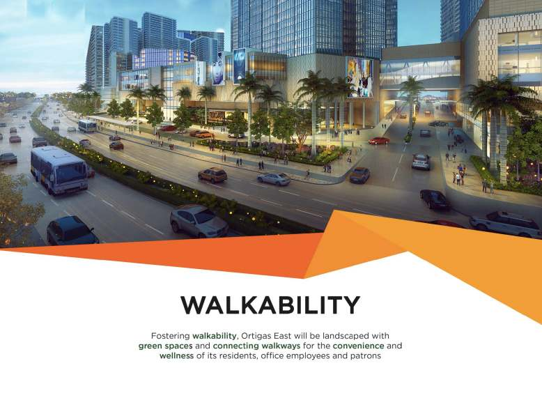 Commercial and Business establishments are located at Ortigas East