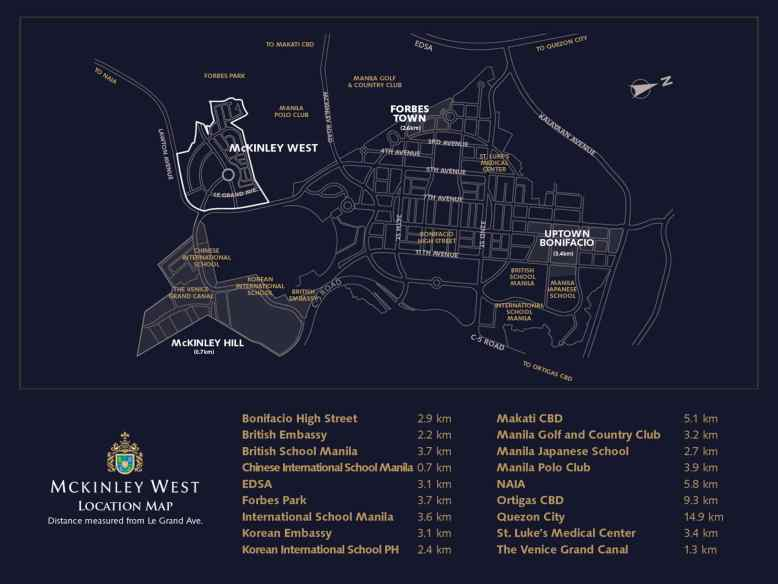 Park McKinley West Location and Vicinity