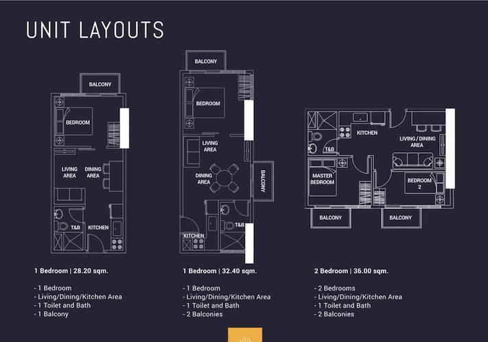 Harbor Park Unit Layouts and Floor Plans