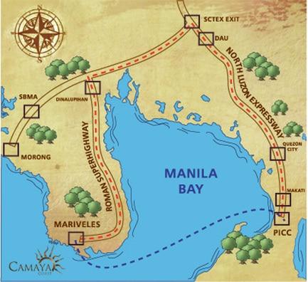 Camaya Coast Location and Vicinity Map