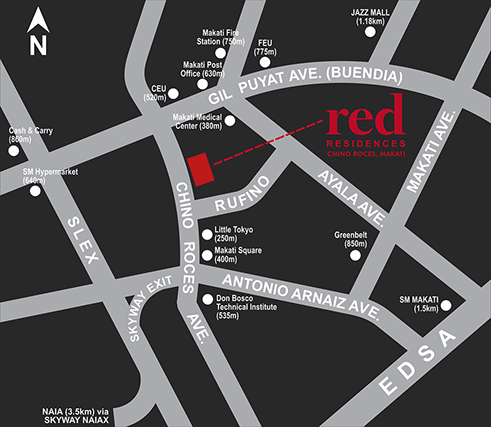 Red Residences Location and Vicinity Map