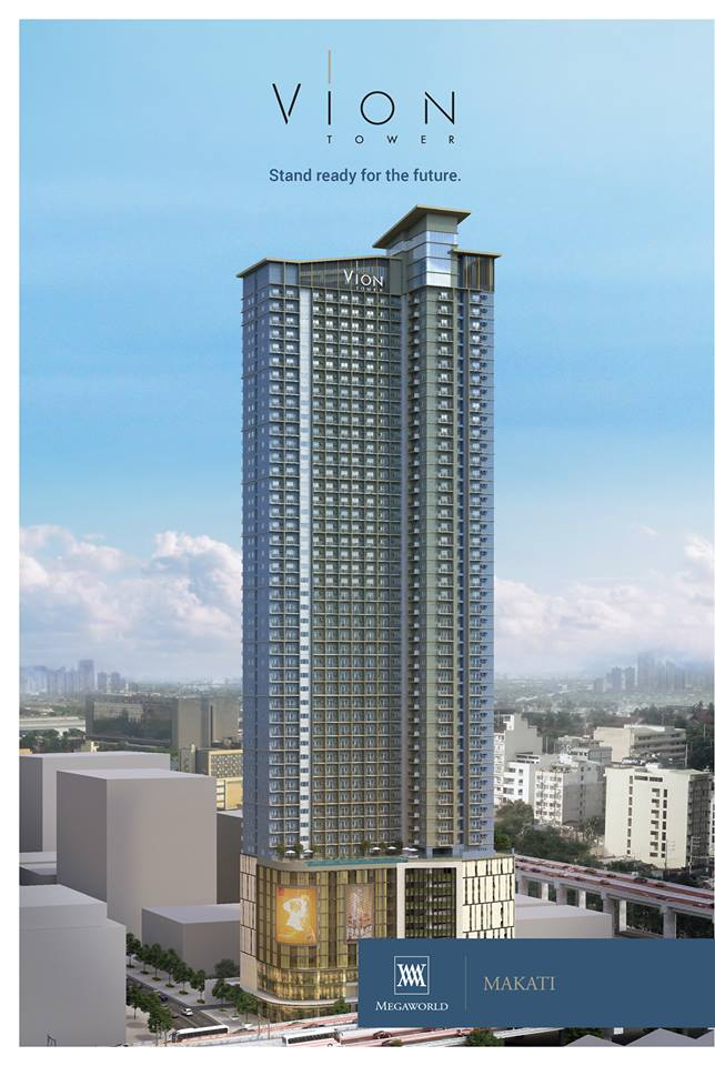 Front View of Vion Tower at Makati by Megaworld