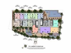 7th Floor Amenity Floor Plan