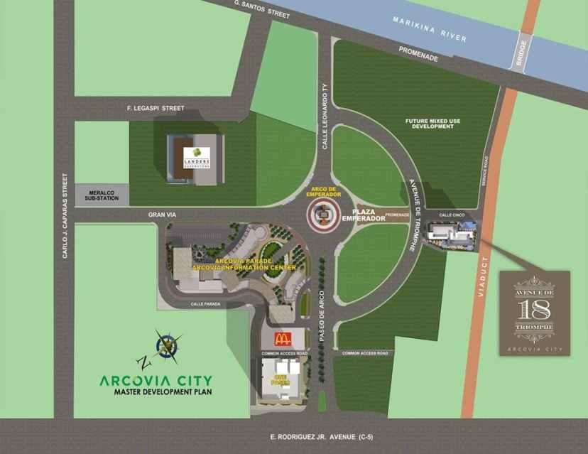 18 Avenue de Triomphe Location and Vicinity