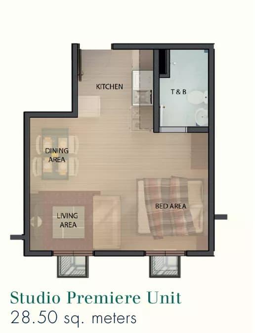 Studio Premier Floor Plan