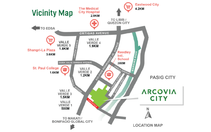 ArcoVia Palazzo Location and Vicinity