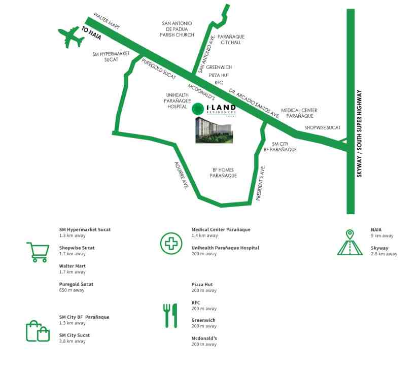 I-Land Residences Location and Vicinity
