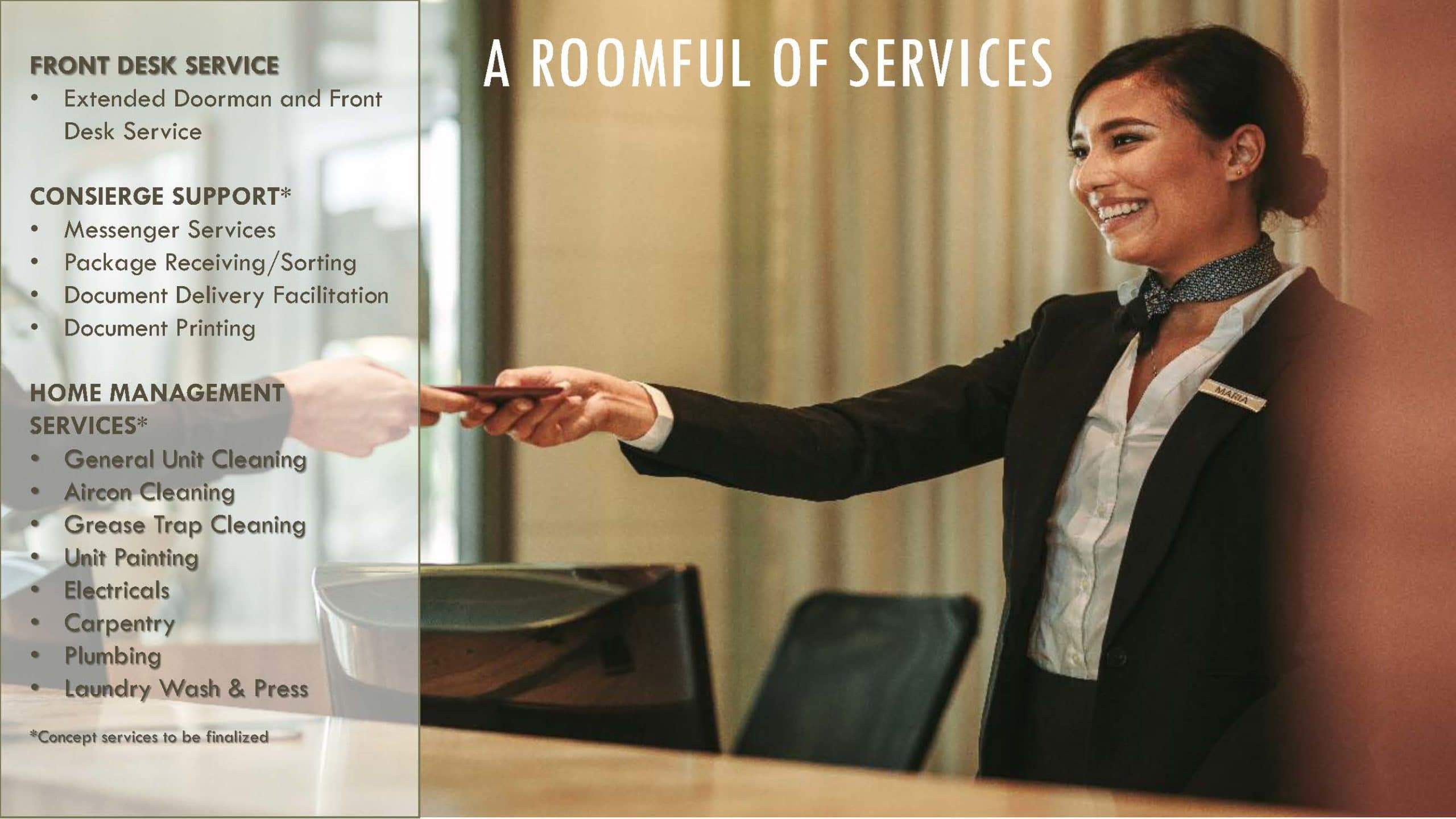 Sands Residences Additional Services