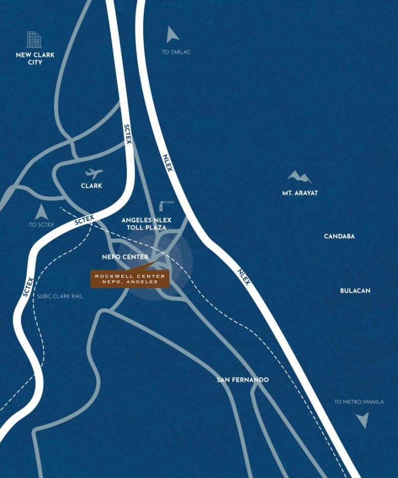 Rockwell Nepo Angeles Pampanga Location and Vicinity