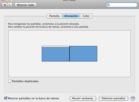 Configuración de pantalla Mac
