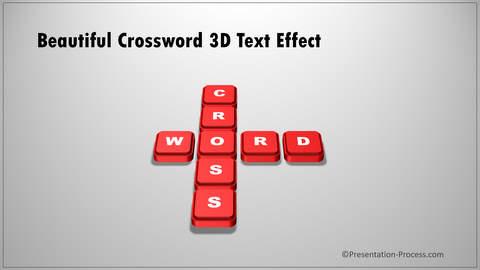 3D Crossword Text Effect PowerPoint