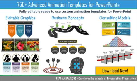 750 advanced animations powerpoint templates pack toneelgroepblik Choice Image