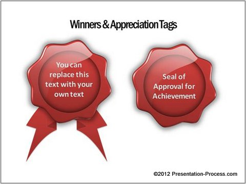 Wax seals appreciation tag