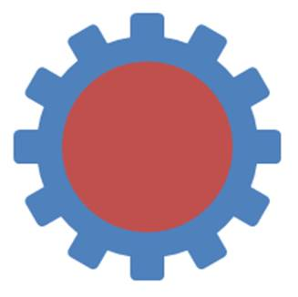 Circle to create hole for gear