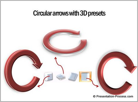 3D Effects with arrows circular