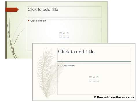 Examples of PowerPoint Design Themes