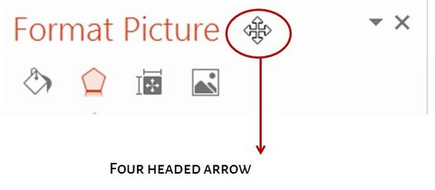 Arrow to Move Pane