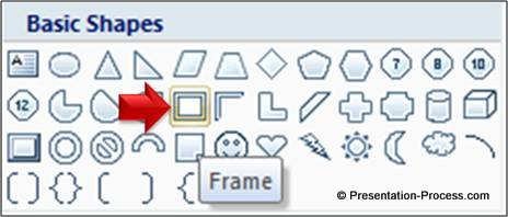 Frame from Auto Shapes Menu